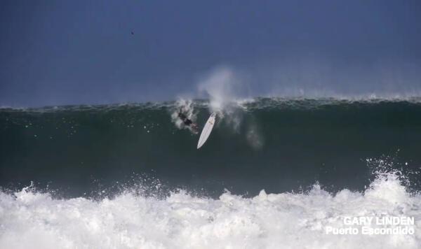 Gary Linden Surfline wipeout