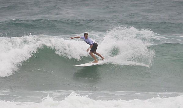 Nic Jones, equal 5th at the Aust Longboard Surfing Open  ASP/Will H-S