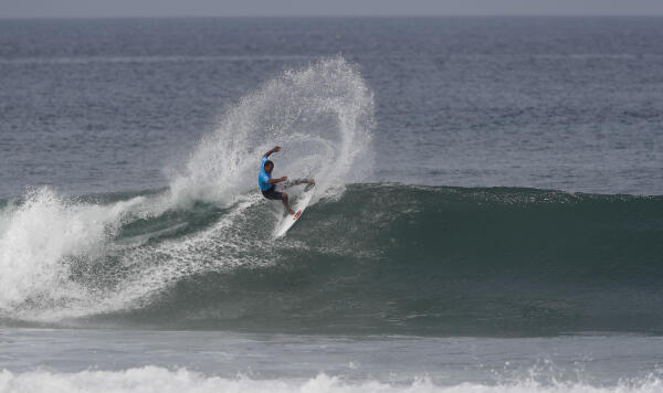 Wiggolly Dantas during Round 3 of the Rip Curl Pro Portugal.