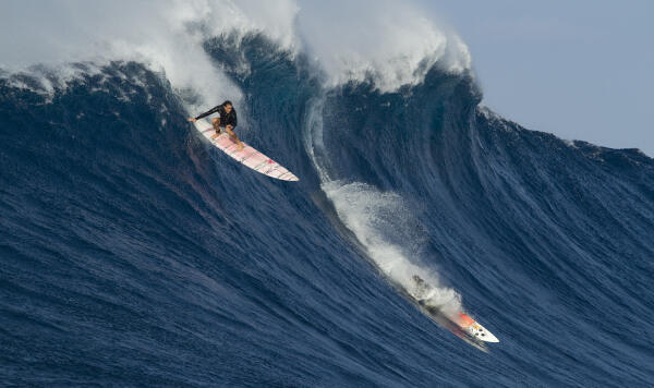 Andrea Moller at Jaws, Maui, Hawaii on February 10, 2016. Photo by Erik Aeder. An entry into the 2016 Paddle Award category.