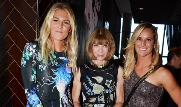 Stephanie Gilmore, Anna Wintour, and Courtney Conlogue at the Weinstein ASP party July 24, 2014.