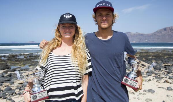 Nelson Cloarec and Juliette Brice, Lanzarote, 2015