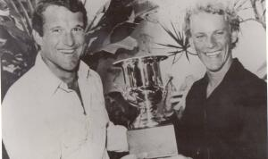 Fred Hemmings and Peter Townend, circa 1976.