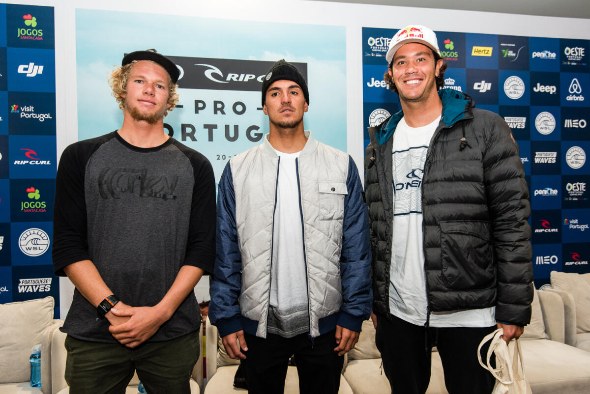 John John Florence, Gabriel Medina and Jordy Smith