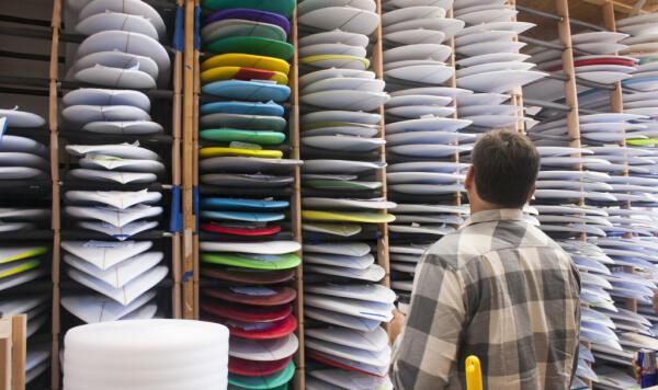 Matt Biolos takes a peek at inventory ready to ship.