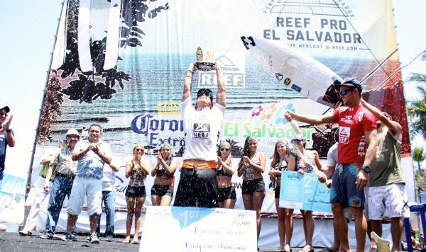 Peterson Crisanto (BRA) wins the Reef Pro El Salvador.