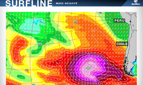 Surfline for Peru and Chile