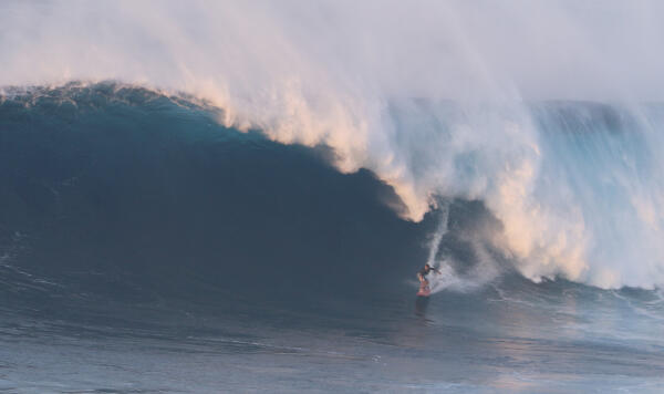 Will Skudin at Jaws on February 10, 2016. Photo by Danny Ecker.