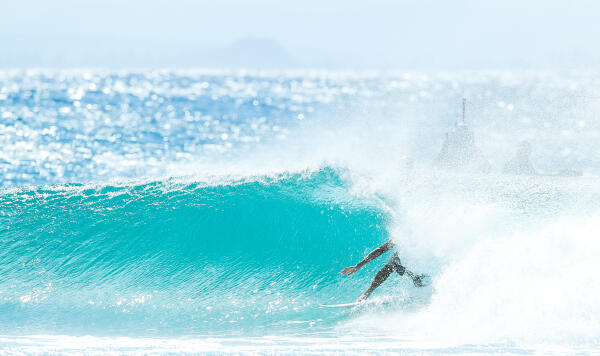 Stephanie Gilmore of Australia placed second in Heat 4 of Round Three of the Roxy Pro, Gold Coast, Australia.