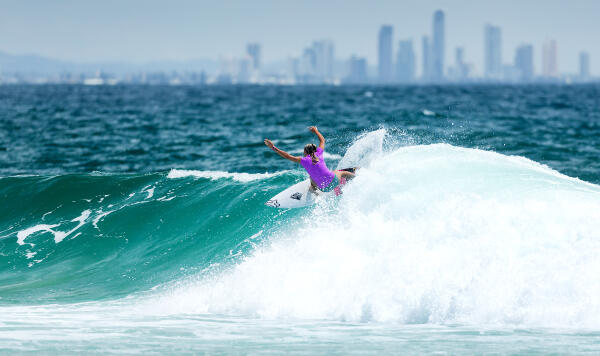 Keely Andrew at the 2015 Roxy Pro Gold Coast trials.