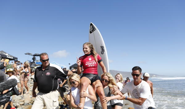 Steph Gilmore finished No. 1 at the 2014 Swatch Women's Pro Trestles.