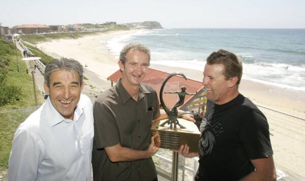 Surfest organizer Warren Smith with Mark Richards and Matt Hoy.