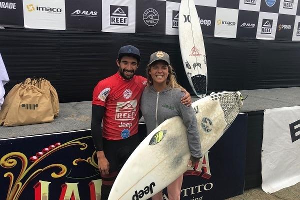 Cristobal De Col y Melanie Giunta - Reef Pro Peñascal Perú