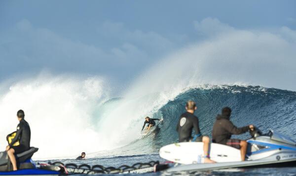 John John Florence enjoying a freesurf.