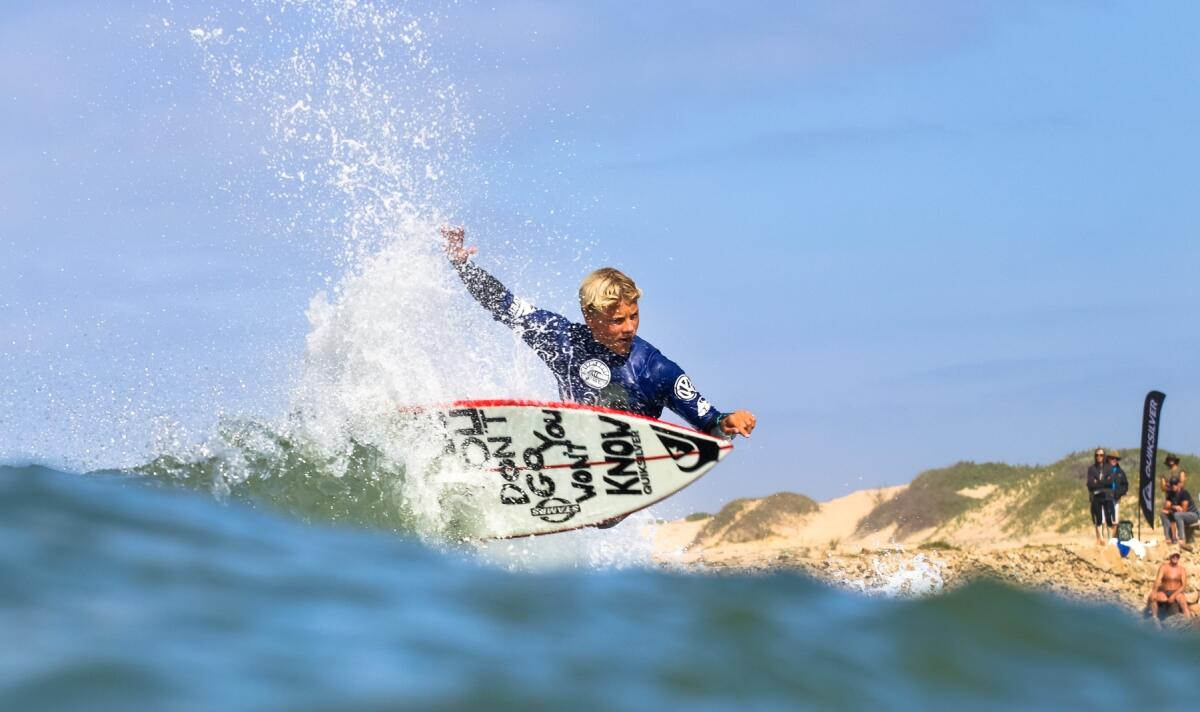 Luke Thompson on Day 2 of the Royal St Andrews Hotel Port Alfred Classic pres. by Quiksilver