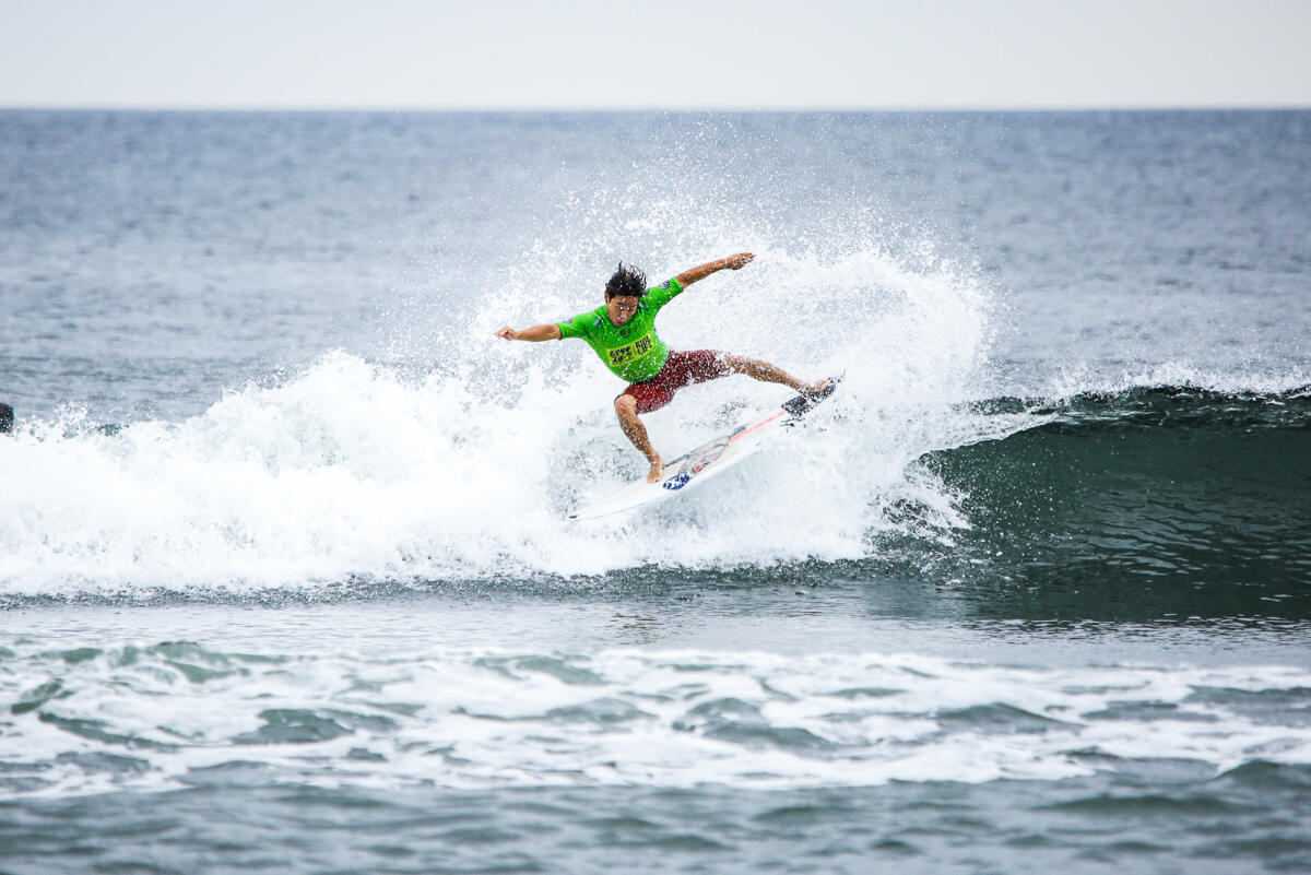 Tsukamato making the most of the small surf and earning his best QS finish to date.