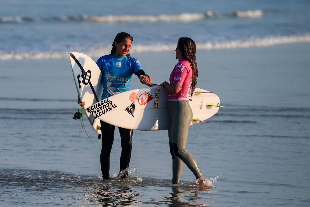 Zahli Kelly (AUS) and Dominic Barona (ECU)